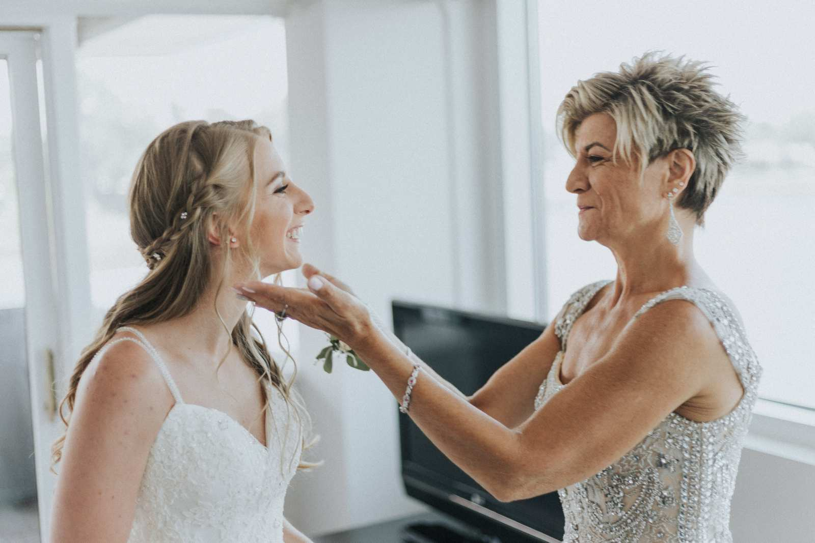 Mom Ensured That The Dress Was Perfectly Fluffed And Every Detail Just Looked Perfect Before Heading To Church With Her Daughter
